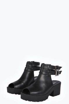 Casey Double Ankle Strap Cleated Gladiator Shoe Boot alternative image