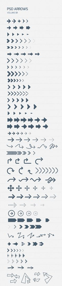 Psd Arrows (free download) by Wassim Awadallah, via Behance