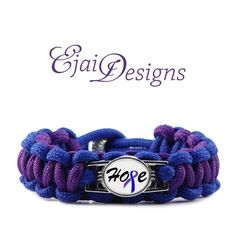CUSTOM Rheumatoid Arthritis RA Blue Purple Ribbon by EjaiDesigns