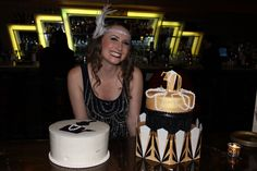 Great Gatsby Cake & Roaring 20's Cake For a 30th Birthday! She is saying goodbye to her roaring 20's!  #gatsby #20's #cake