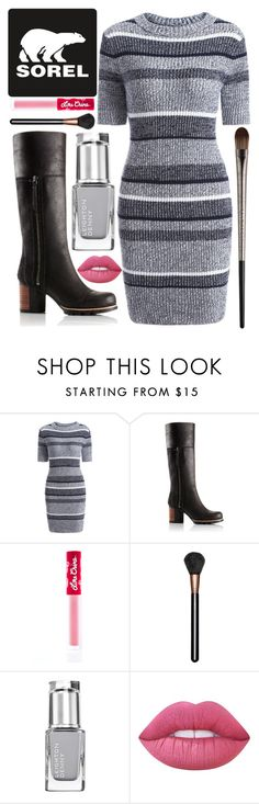 """""""Kick Up the Leaves (Stylishly) With SOREL: CONTEST ENTRY"""" by whynot17 ❤ liked on Polyvore featuring SOREL, Lime Crime, MAC Cosmetics, Urban Decay and sorelstyle"""