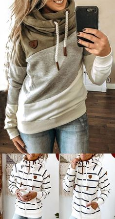 Gender :Women Style :Casual Material :Cotton Size :S-5XL ⚡Over$69 GET $10 off ⚡Over$109 GET $20 off⚡Over$139 GET $35 off High Fashion, Winter Fashion, Womens Fashion, Dressed To The Nines, Cute Casual Outfits, Dress Me Up, Hoodies, Sweatshirts, Fashion Outfits