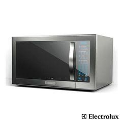 Imagem para Forno de Micro-ondas Electrolux Home Pro 42L com 10 Níveis de Potência e Painel de Controle Blue Touch  Grill Inox  - MEC52 a partir de Fast Shop