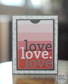 Card by Amy Tsuruta. Reverse Confetti Quick Card Panels: Happy Heart Day. Valentine' card. Anniversary card.