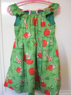 Girls Christmas Kitsch Mouse Dress to fit 24 by LilRockabillyRebel, $30.00
