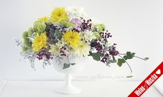 bouquet lila & yellow