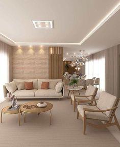 Decoração 2021: Tendências e 7 ideias 25 fotos inspiradoras Living Room Sofa Design, Home Room Design, Home Design Decor, Home Living Room, Interior Design Living Room, Living Room Designs, Living Room Decor, House Design, Elegant Living Room