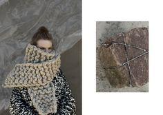 "Anna Dudzinska ""NATURAL THING"" knitwear campaign"