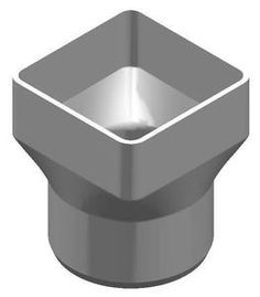 """The Drainage Products Store - PVC 8"""" x 8"""" x 8"""" SDR35 Downspout Adapter (Centered) (DSA x Spigot), $60.71 (http://stores.drainageproducts.us/pvc-8-x-8-x-8-sdr35-downspout-adapter-centered-dsa-x-spigot/)"""