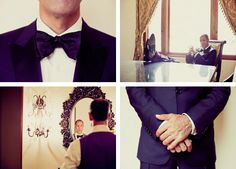 classic + handsome groom style.