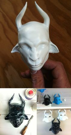 Printed Masks for Worse to Come supportcrew 3d Printed Mask, Painting Process, Piggy Bank, 3d Printing, Masks, Gallery, Prints, Art, Impression 3d