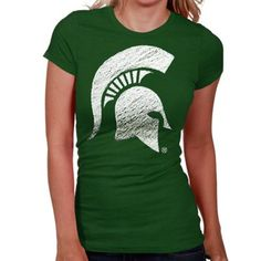 My U Michigan State Spartans Womens Sketch It Out T-Shirt - Green