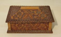 Hey, I found this really awesome Etsy listing at http://www.etsy.com/listing/125285397/antique-arts-crafts-carved-wooden-box