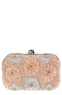 Natasha Couture Floral Embroidery Clutch available at #Nordstrom