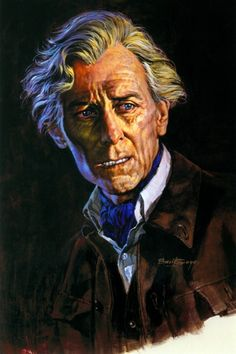 Peter Cushing by Basil Gogo Peter Cushing was an English actor known for playing the sinister scientist Baron Frankenstein, Sherlock Holmes and the vampire hunter Dr. Van Helsing.