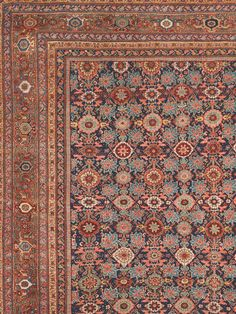 Antique West Central Persian Sultanabad with allover floral blossom design Antique Rug - Claremont Rug Company Persian Carpet, Persian Rug, Rugs On Carpet, Carpets, Iranian Rugs, Square Rugs, Rug Company, Tribal Rug, Oriental Rug