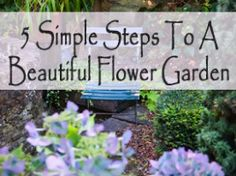 5 Simple steps to a beautiful flower garden-ideas for landscaping