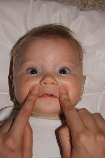 Baby massage for when your baby has discomfort from a cold or teething.