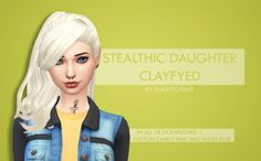 My Sims 4 Blog: Stealthic Daughter Hair Clayified by BurritoSims