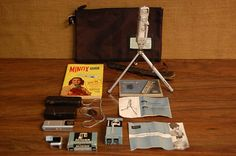 Vintage Minox Spy Camera 1950's with Minox Tripod