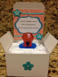 Will You Be My Bridesmaid Boxes with Ring Pop via Etsy