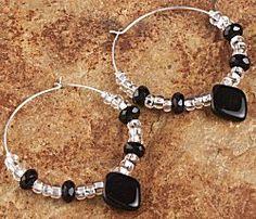 Jewelry Making Idea: Diamond Drop Earrings (eebeads.com)