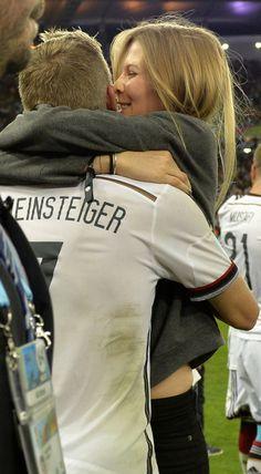The way they were on july 13, 2014 Sarah Brandner, girlfriend of Bastian Schweinsteiger