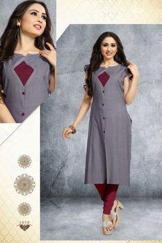 Plain Kurti Designs, Salwar Neck Designs, Churidar Designs, Kurta Neck Design, Neckline Designs, Dress Neck Designs, Kurta Designs Women, Designs For Dresses, Blouse Designs