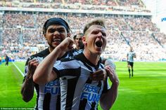Matt Ritchie (centre) scored the winner as Newcastle came from behing to add to Arsenal's away-day woes at St James' Park St James' Park, Newcastle, Arsenal, Victorious, Football, Couple Photos, Centre, Sports, Image