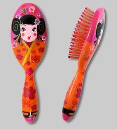 Brosse à cheveux Ladypop small KIMONO ==============>#Cadeaux - #Vetements - #Décoration - #Vêtements - #Cadeau - #Boutique - #Bijoux - #Cheveux
