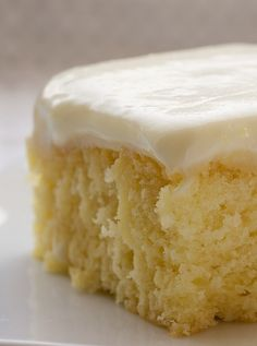 Lemon Poke Cake. The three components of this cake are all lemon-flavored. It's lovely and cool and just the thing for dessert on a summer day.