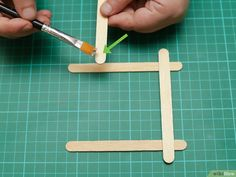 How to Build a Popsicle Stick Tower. Popsicle stick towers are a common engineering project to be assigned in school.Your assignment may have various criteria for height, weight, and number of popsicles, but this guide will give you a. Stem Projects, Diy Wood Projects, Tower Building, Wood Sticks, Wood Glue, Popsicle Sticks, Autumn Theme, Popsicles, Crafts For Kids