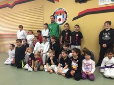 Group Photo and Hunter Freeman Karate Kick, Group Photos, Basketball Court, Kicks, Sports, Tuna, Hs Sports, Group Shots, Sport