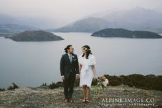 Cutest elopement ever! Shot in the mountains of New Zealand by Alpine Image Company.