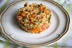 Kaszotto- pęczotto z warzywami Fried Rice, Risotto, Goodies, Food And Drink, Healthy Recipes, Healthy Food, Favorite Recipes, Dinner, Vegetables