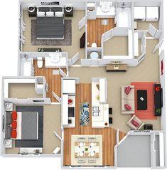 ideas apartment building architecture floor plans design for 2019 Sims House Plans, House Layout Plans, Small House Plans, House Layouts, House Floor Plans, Sims House Design, Small House Design, Home Design Floor Plans, Plan Design