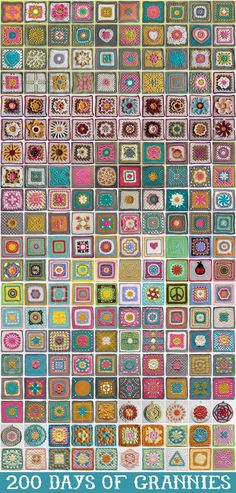 just in case you don't have enough to do on your to-do list....here are  200 days of granny squares! #crochet