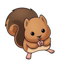 Baby Squirrel - Lots of clip art on this site Cute Animal Drawings, Kawaii Drawings, Cartoon Drawings, Cute Drawings, Baby Chipmunk, Baby Squirrel, Cute Cartoon Animals, Baby Animals, Cute Animals