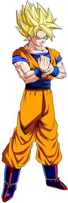 Goku SSJ by dbzandsm on @DeviantArt