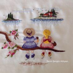 """2,995 Me gusta, 71 comentarios - Berrin Şengöz (@berrin_sengoz) en Instagram: """"GünaydınGoodmorning...Küçük mutluluklar serisinin en yeni üyesi...Biz çok sevdik,umarım sizlerde…"""" Hand Embroidery Design Patterns, Embroidery Hoop Crafts, Embroidery Works, Simple Embroidery, Hand Embroidery Stitches, Embroidery Techniques, Ribbon Embroidery, Cross Stitch Embroidery, Machine Embroidery Designs"""