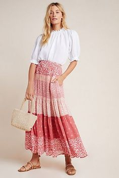 Maxi Skirt Outfit Summer, Maxi Skirt Outfits, Maxi Skirt Boho, Flowy Skirt, Dress Skirt, Lace Skirt, Twirl Skirt, Maxi Dresses, Formal Dresses