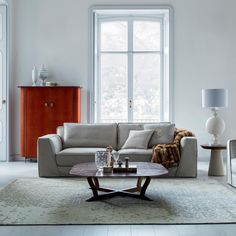 A new entry very appreciated from the last #Milano fair is the new... Celine #Sofa  #controlucehome by @albertafurniture  The Celine model stands out for its #elegant sophisticated design, enhanced by a soft matching profile.  A unique versatile collection where #haute-couture details perfectly embody the combination of #tradition and #modernity.  In the picture: - Alexander Cabinet - Elizabeth middle table - Judy side table