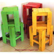 sillas banquetas recicladas jardin - Buscar con Google