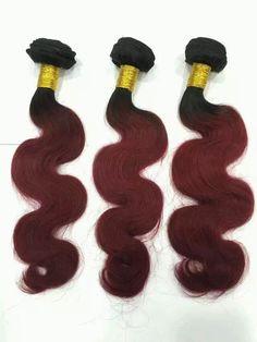 #1B/Red Remy Mink Body Wave#MSbeauty Hair
