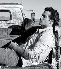 Henry Cavill ~ Not much is sexier than a hot guy and an old pickup... just sayin'.