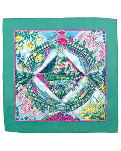 "Hermes ""Giverny"" 90cm scarf - Monet themed!  If only they'd reissue this..."