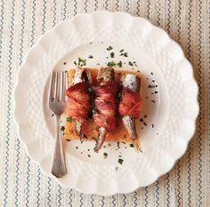 Bacon-Wrapped Sardines / André Baranowski #recipes