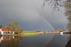 Rainbow Holland, Amsterdam, Country Roads, Rainbow, River, City, Outdoor, Outdoors, Rainbows