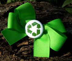 Green Recycle Bow