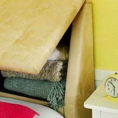 Secret storage headboard - Storage Where You Least Expected It: 10 Sly Spots to Stash Your Stuff